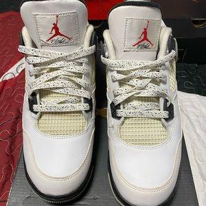 White Cement 4s Air Jordan 4 🏀
